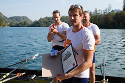 Iztok Cop during rowing at Slovenian National Championship and farewell of Iztok Cop, on September 22, 2012 at Lake Bled, Ljubljana Slovenia. (Photo By Matic Klansek Velej / Sportida)