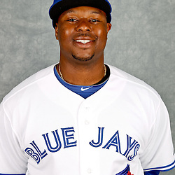 March 2, 2012; Dunedin, FL, USA; Toronto Blue Jays first baseman Michael McDade (66) poses for a portrait during photo day at Florida Auto Exchange Stadium.  Mandatory Credit: Derick E. Hingle-US PRESSWIRE