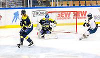 2018-03-14   Jönköping, Sweden: Djurgården Hockey scores during the quarterfinal game between HV71 and Djurgården Hockey at Kinnarps Arena ( Photo by: Marcus Vilson   Swe Press Photo )<br /> <br /> Keywords: Kinnarps Arena, Jönköping, SDHL, Hockey, HV71, Djurgården Hockey