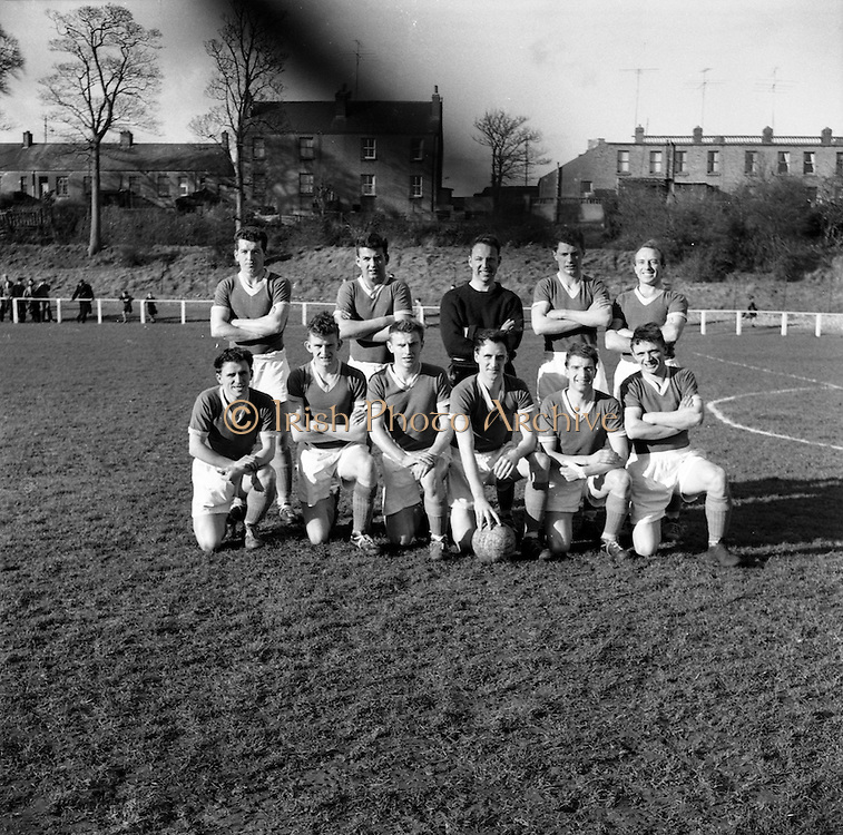 26/02/1961<br /> 02/26/1961<br /> 26 February 1961<br /> Soccer, League of Ireland: St. Patricks Athletic v Cork Hibernians at Richmond Park, Inchicore, Dublin. The Cork Hibernians team.