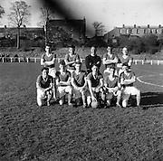 26/02/1961<br /> 02/26/1961<br /> 26 February 1961<br /> Soccer, League of Ireland: St. Patricks Athletic v Cork Hibernians at Richmond Park, Inchicore, Dublin. The Cork Hibernians team.