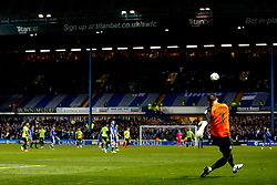 Keiren Westwood of Sheffield Wednesday clears the ball with a free kick - Mandatory by-line: Matt McNulty/JMP - 17/05/2017 - FOOTBALL - Hillsborough - Sheffield, England - Sheffield Wednesday v Huddersfield Town - Sky Bet Championship Play-off Semi-Final 2nd Leg