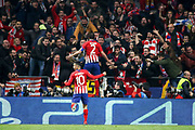 Diego Godin of Atletico de Madrid celebrates a goal during the UEFA Champions League, round of 16, 1st leg football match between Atletico de Madrid and Juventus on February 20, 2019 at Wanda metropolitano stadium in Madrid, Spain - Photo Oscar J Barroso / Spain ProSportsImages / DPPI / ProSportsImages / DPPI