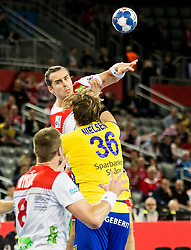 Kent Robin Tonnesen of Norway during handball match between National teams of Sweden and Norway on Day 7 in Main Round of Men's EHF EURO 2018, on January 24, 2018 in Arena Zagreb, Zagreb, Croatia.  Photo by Vid Ponikvar / Sportida