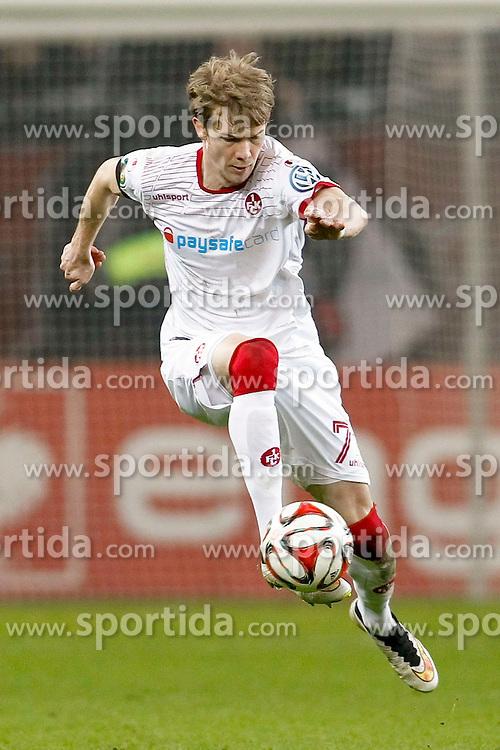 03.03.2015, BayArena, Leverkusen, GER, DFB Pokal, Bayer 04 Leverkusen vs 1. FC Kaiserslautern, Achtelfinale, im Bild Michael Schulze (1. FC Kaiserslautern #7) // during German DFB Pokal last sixteen match between Bayer 04 Leverkusen and 1. FC Kaiserslautern at the BayArena in Leverkusen, Germany on 2015/03/03. EXPA Pictures &copy; 2015, PhotoCredit: EXPA/ Eibner-Pressefoto/ Schueler<br /> <br /> *****ATTENTION - OUT of GER*****