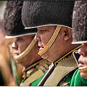 Thai soldiers gather in their dress uniforms during ceremonies In Bangkok on December 5th to honor King Bhumibol Adulyadej, the world's longest reigning monarch.