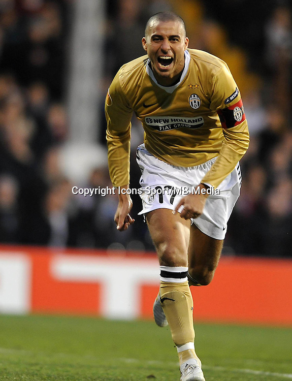 Joie David TREZEGUET - 18.03.2010 - Fulham / Juventus - 8eme Finale Europa League 2009/2010 - Fulham - Londres - Photo : Aldo Liverani / Icon Sport *** Local Caption ***