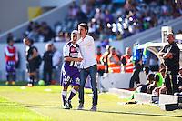 Dominique Arribage / Wissam Ben Yedder - 12.04.2015 - Toulouse / Montpellier - 32eme journee de Ligue 1 <br />Photo : Manuel Blondeau / Icon Sport