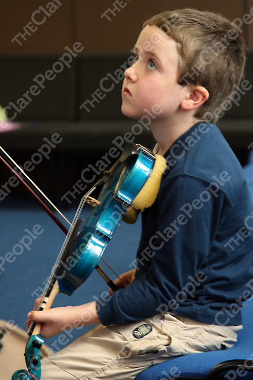 Thomas Giles at the Eigse Mrs. Crotty traditional music festival in Kilrush during the week.<br />