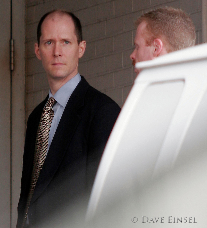 HOUSTON - FEBRUARY 28:  Tim Belden waits for his car behind the Bob Casey United States Courthouse after testifying in the fraud and conspiracy trial of former Enron chairman Kenneth Lay and former CEO Jeff Skilling, February 28, 2006 in Houston, Texas. The trial is in it's fifth week. (Photo by Dave Einsel)