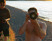 Models view of photographer and assistant, Seward Park, 2003