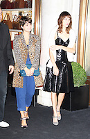 Pixie Geldof & Alexa Chung, Longchamp - Flagship Store Launch Party, Regent Street, London UK, 14 September 2013, (Photo by Brett D. Cove)