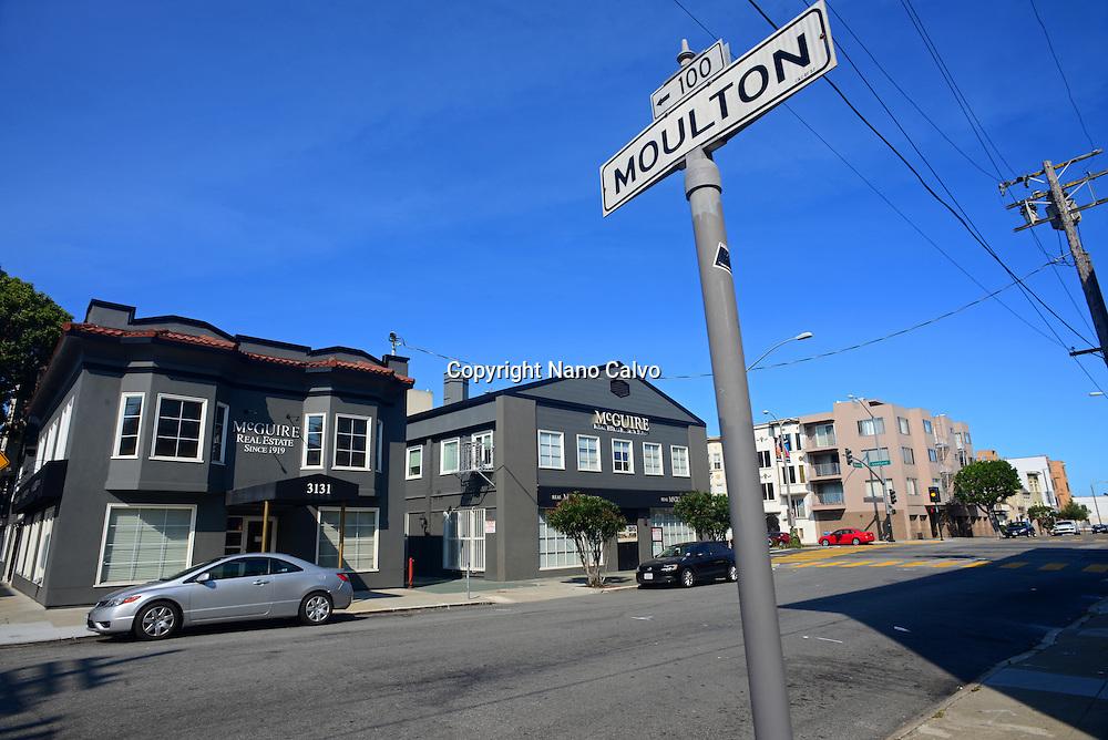 Moulton street in San Francisco, California.