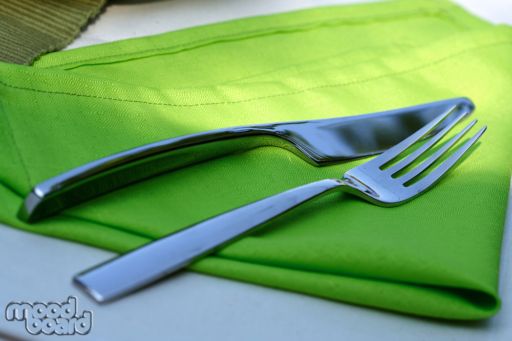 Close up of fork and knife
