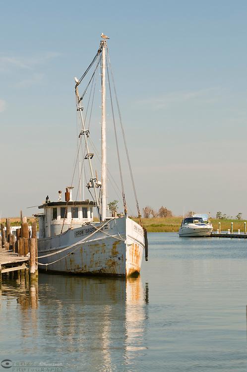 Fishing boat at Knapps Narrows, Tilghman Island, Maryland USA