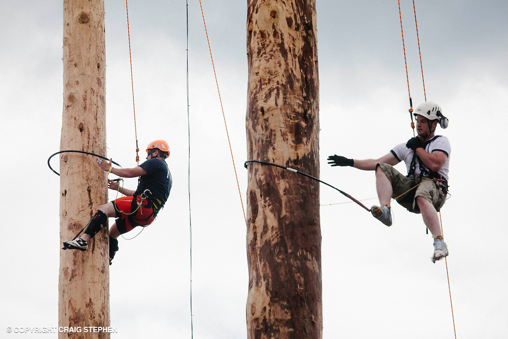 oyal Highland Show 2014. Attempting work record on the climbing poles. PAYMENT TO CRAIG STEPHEN 07905 483532
