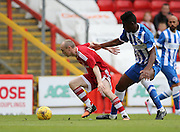 Willo Flood and Rohan Ince during the Pre-Season Friendly match between Aberdeen and Brighton and Hove Albion at Pittodrie Stadium, Aberdeen, Scotland on 26 July 2015.