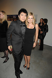 Singer KATHERINE JENKINS and pianist LANG LANG at the Montblanc de la Culture Arts Patronage Award 2008 presented to Louise Blouin MacBain at the Louise Blouin MacBain Institute, 3 Olaf Street, London W11 on 16th April 2008.<br />