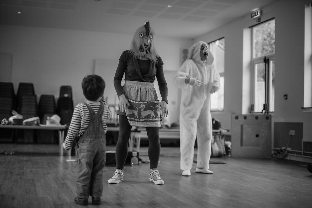 Joe sings Chook, Chook Mrs. Hen Nursery rhyme during a toddler music class in Berkhamsted, England Thursday, March 24, 2016 (Elizabeth Dalziel) #thesecretlifeofmothers #bringinguptheboys #dailylife