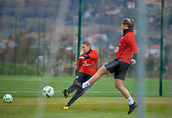 ZENICA, BOSNIA AND HERZEGOVINA - Monday, November 27, 2017: Wales' Kayleigh Green during a training session ahead of the FIFA Women's World Cup 2019 Qualifying Round Group 1 match against Bosnia and Herzegovina at the FF BH Football Training Centre. (Pic by David Rawcliffe/Propaganda)