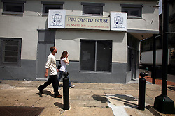 11june 2010. New Orleans, Louisiana. <br /> P&J Oyster House, a New Orleans institution has closed its door after 143 years in business. Incomes have crashed as all seafood prices have risen over 30% in the past 4 weeks alone as stocks run low thanks to closed fishing grounds affected by oil pollution. BP's disastrous environmental catastrophe out in the Gulf of Mexico threatens  the livelihood of many thousands of workers affiliated to the fishing industry in Louisiana. Earnings are down as much as  50% of those pre BP's oil disaster. Thousands of barrels of oil per day continues to leak into the Gulf because of the explosion and collapse of the Deepwater Horizon drilling platform 46 miles out to sea. The closure of fishing grounds both east and west of the Mississippi river outflow is crippling thousands of local fishermen and all affiliated businesses and families who rely on the seafood industry.  it is feared that many more will lose their jobs and everything they own as a result of BP's Gulf Coast environmental disaster.<br /> Photo; Charlie Varley/varleypix.com