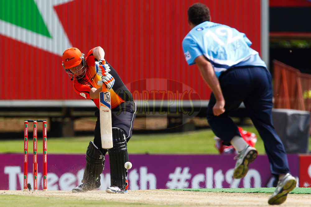 Tom Beaton plays a shot during match 19 of the Karbonn Smart CLT20 South Africa between The Perth Scorchers and The Auckland Aces held at Supersport Park Stadium in Centurion, South Africa on the 23rd October 2012..Photo by Rogan Ward/SPORTZPICS/CLT20