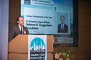 2014 Cultural Achievement awardee, Ari Wiseman Deputy Director, Solomon R. Guggenheim Foundation. Celebrating the business leaders in New York City, who have built outstanding businesses - contributing to the economy and community as well. The MCC Business Awards Breakfast is the Manhattan Chamber's premiere event adn was attended by over 250 entrepreneurs, business owners, executives and legislative leaders in New York City. (Photo: www.JeffreyHolmes.com)