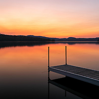 I traveled way up north to New Hampshire to Colebrook and North Country along moose alley near the Canadian border and stopped at Back Lake for a sunset picture.      <br />