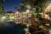The swimming pool of the Belmond La Résidence d'Angkor hotel in Siem Reap.