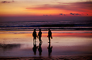 "Sunset at Kuta Beach, a ""must"" for every visitor."