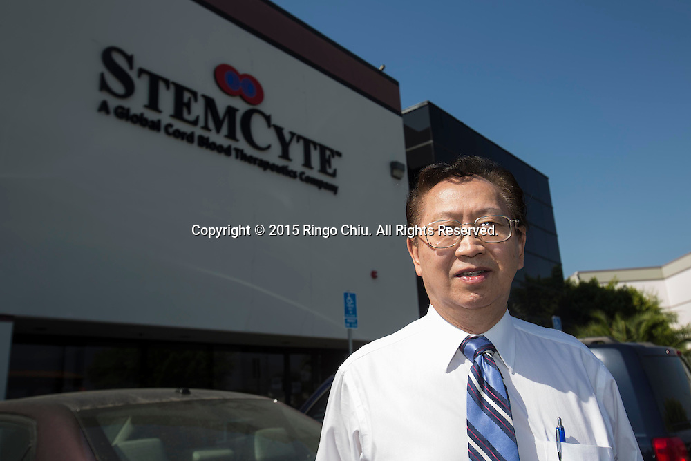 Jonas Wang, CEO of StemCyte, a cord blood therapeutics company.<br /> Photo by Ringo Chiu/PHOTOFORMULA.com)