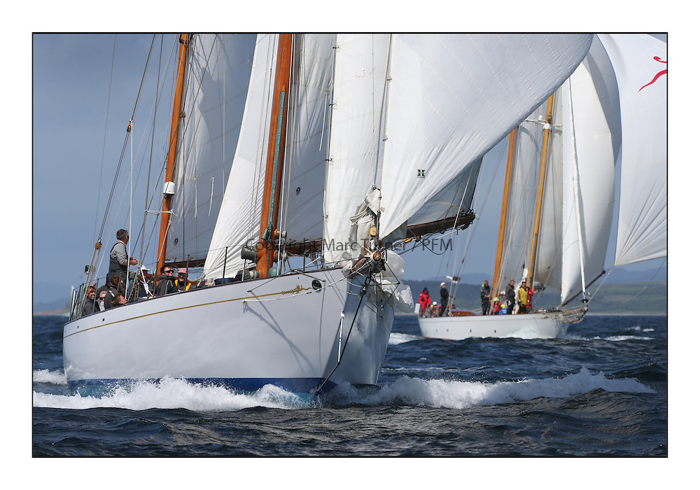 Day five of the Fife Regatta, Race from Portavadie on Loch Fyne to Largs. <br /> <br /> Latifa, 8, Mario Pirri, ITA, Bermudan Yawl, Wm Fife 3rd, 1936, Astor, Richard Straman, USA, Schooner, Wm Fife 3rd, 1923<br /> <br /> * The William Fife designed Yachts return to the birthplace of these historic yachts, the Scotland&rsquo;s pre-eminent yacht designer and builder for the 4th Fife Regatta on the Clyde 28th June&ndash;5th July 2013<br /> <br /> More information is available on the website: www.fiferegatta.com