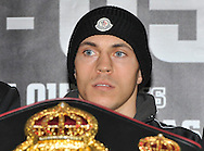 Picture by Alan Stanford/Focus Images Ltd +44 7915 056117<br />03/10/2013<br />Scott Quigg pictured during a Matchroom Sports press conference at International Hotel, Canary Wharf, London.