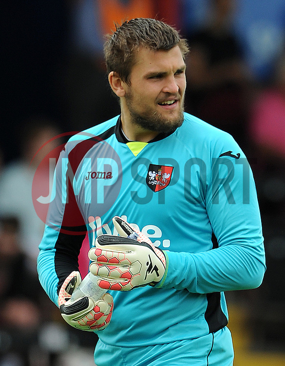 Exeter City's Bobby Olejnik - Photo mandatory by-line: Harry Trump/JMP - Mobile: 07966 386802 - 18/07/15 - SPORT - FOOTBALL - Pre Season Fixture - Exeter City v Bournemouth - St James Park, Exeter, England.