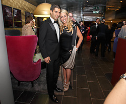 LONDON, ENGLAND - Monday, December 16, 2013: Liverpool's Luis Suarez and wife Sofia Balbi attend the Football Supporters Federation Awards Night at the Emirates Stadium. (Pic by Steve Welsh/William Hill/Propaganda).