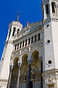 The Fourvière Basilica in old town Vieux Lyon, France (UNESCO World Heritage Site)