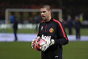 Manchester United's Goalkeeper Victor Valdes during the The FA Cup match between Cambridge United and Manchester United at the R Costings Abbey Stadium, Cambridge, England on 23 January 2015. Photo by Phil Duncan.