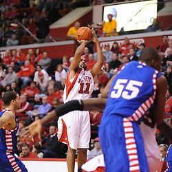 Jan 31, 2009; Piscataway, NJ, USA; Rutgers guard/forward Earl Pettis (11) takes a shot during the first half of Rutgers game against DePaul in NCAA college basketball at the Louis Brown Athletic Center
