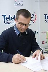 Iztok Ciglaric of AK Poljane when Slovenian athletes and their coaches sign contracts with Athletic federation of Slovenia for year 2009,  in AZS, Ljubljana, Slovenia, on March 2, 2009. (Photo by Vid Ponikvar / Sportida)