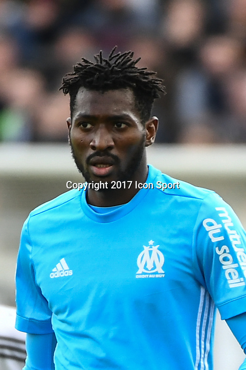Zambo Anguissa of Marseille during the Ligue 1 match between Amiens SC and Olympique Marseille at Stade de la Licorne on September 17, 2017 in Amiens, . (Photo by Anthony Dibon/Icon Sport)
