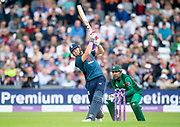 Picture by Allan McKenzie/SWpix.com - 19/05/2019 - Sport - Cricket - 5th Royal London One Day International - England v Pakistan - Emerald Headingley Cricket Ground, Leeds, England - England's Jonny Bairstow hits out against Pakistan.
