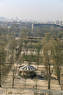 France. Paris. elevated view. Tuileries garden view from the hotel intercontinental