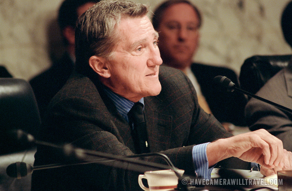 Commission member John Lehman at the 9/11 Commission's Public Hearing Number 8 on Wednesday, 24 March 2004.