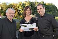 Frances O Beirn, Sara Kraak, and Paul Gaughan, at the Launch of the SCCUL Sanctuary at Kilcuan, Clarinbridge .<br /> Photo:Andrew Downes