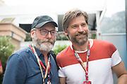 May 23-27, 2018: Monaco Grand Prix. Actors Liam Cunningham and Nikolaj Coster-Waldau