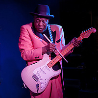 Blues musician Buddy Guy performs at his Legends in Chicago, January 29, 2012 in a photo ©2012 Wayne Cable (.com)