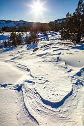 """""""Snow Patterns 1"""" - Photograph of patterns in the snow, created by wind."""