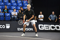 October 4, 2018 - St. Louis, Missouri, U.S - JOHN MCENROE gets ready to receive the serve during the Invest Series True Champions Classic on Thursday, October 4, 2018, held at The Chaifetz Arena in St. Louis, MO (Photo credit Richard Ulreich / ZUMA Press) (Credit Image: © Richard Ulreich/ZUMA Wire)