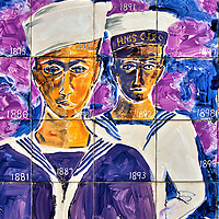 Sailors Panel from Wall of History in George Town, Grand Cayman<br />