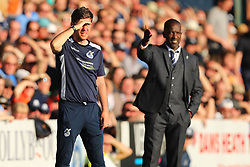 Bristol Rovers manager Darrell Clarke and Southend United manager Chris Powell - Mandatory by-line: Richard Calver/JMP - 05/05/2018 - FOOTBALL - Roots Hall - Southend-on-Sea, England - Southend United v Bristol Rovers - Sky Bet League One